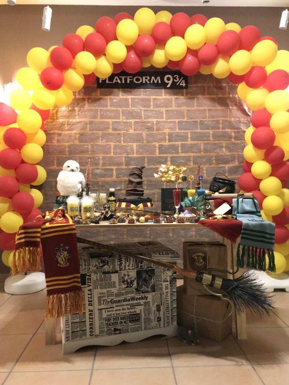allestimento festa compleanno Harry Potter