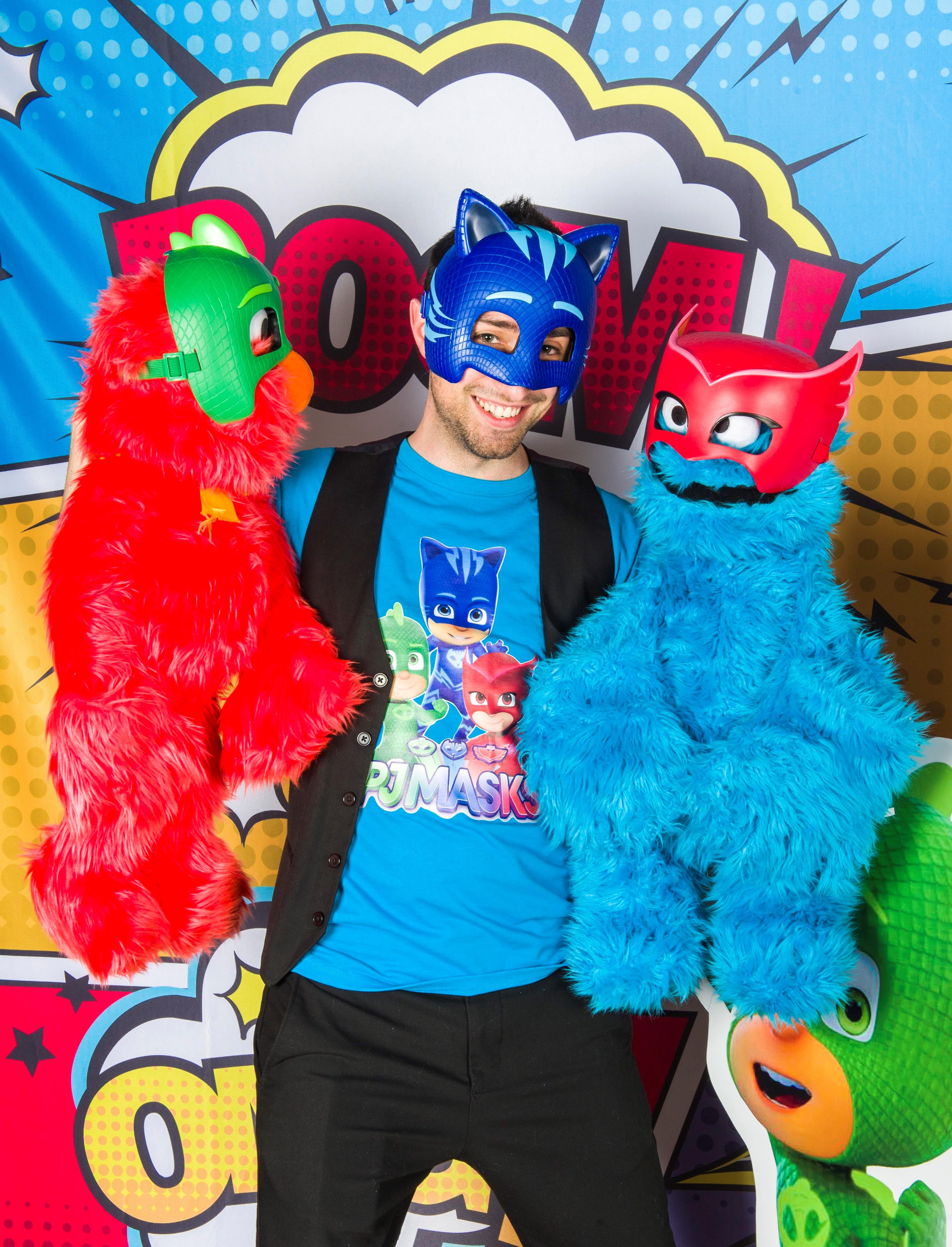 Festa di compleanno per bambini a tema Pjmasks