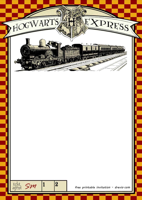 Biglietto da scaricare festa Harry Potter