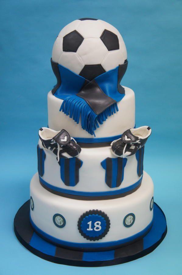 torta festa di compleanno bambini squadra di calcio Inter