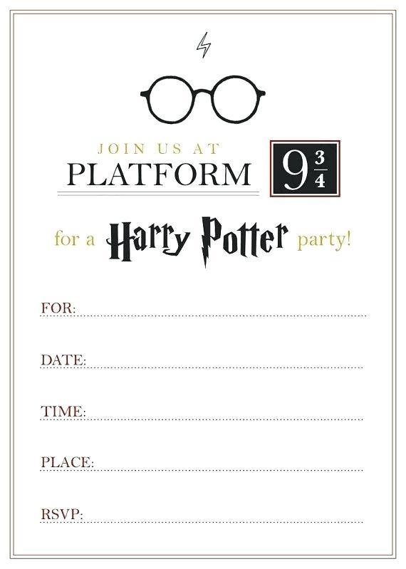 Invito semplice festa compleanno Harry Potter