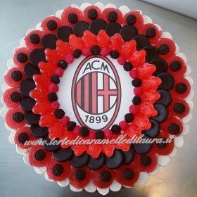 torta festa di compleanno bambini squadra di calcio Milan