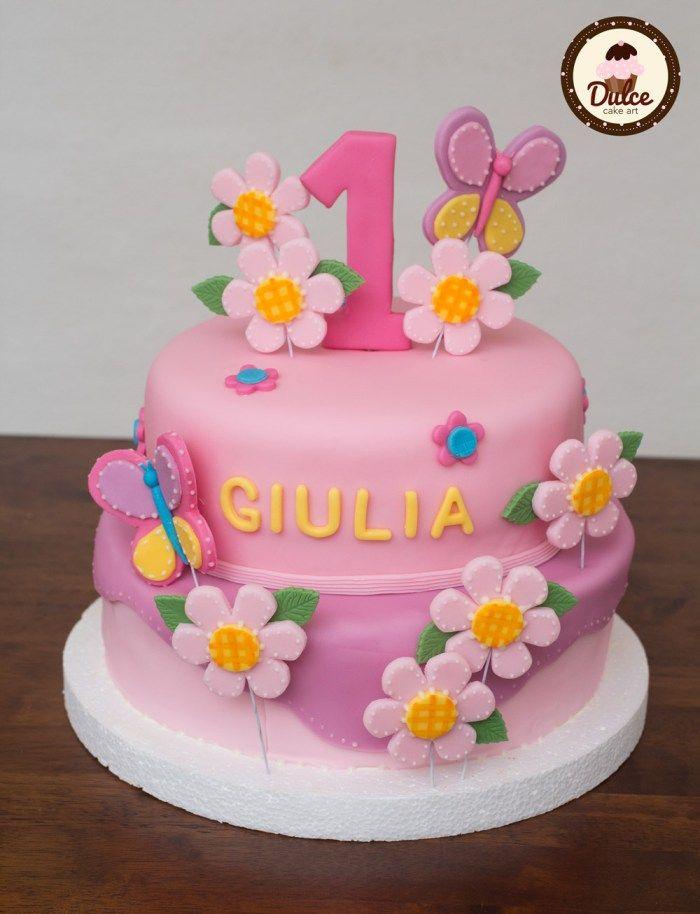 torta di cake design festa primo compleanno