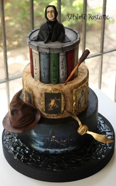 torta per festa a tema Harry Potter