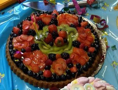 torta alla frutta per festa compleanno