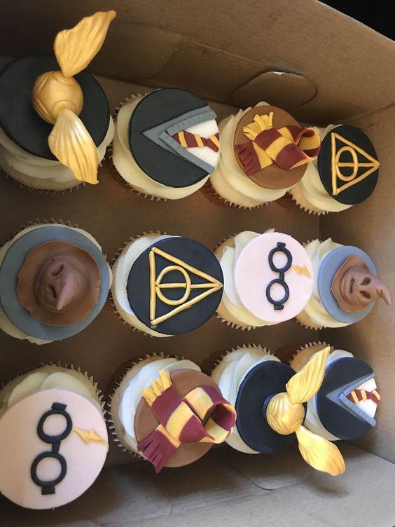 cupcake per festa compleanno bimbi a tema Harry