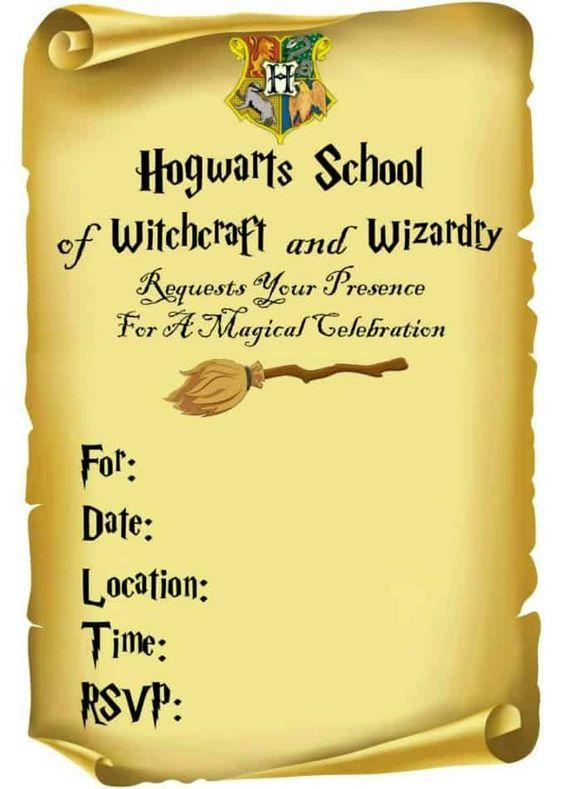 Invito pergamena festa compleanno bambini Harry Potter