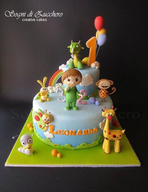 torta di cake design animaletti