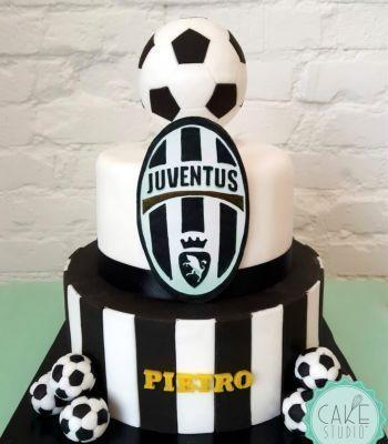 torta per festa di compleanno a tema Iuventus