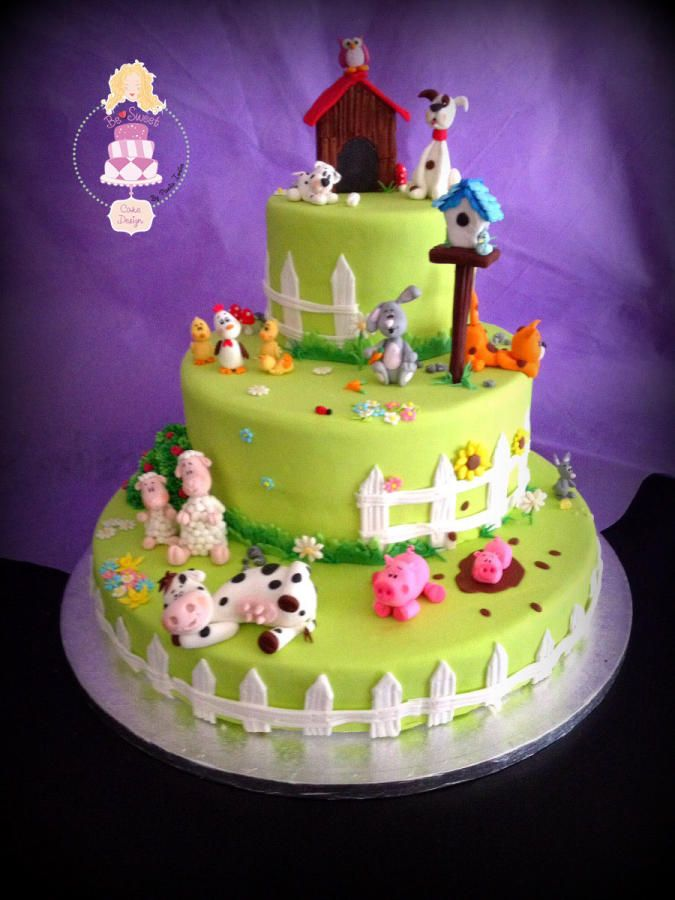 torta di compleanno fattoria