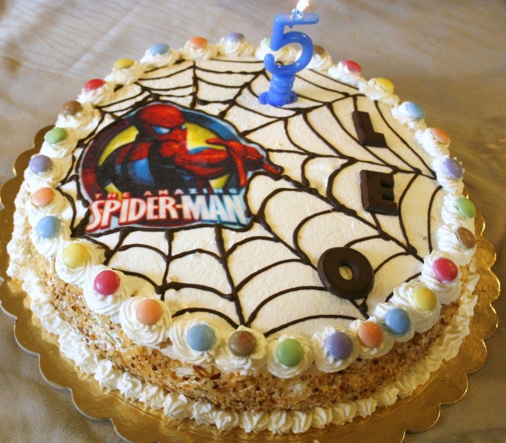 torta festa di compleanno bambini Spiderman