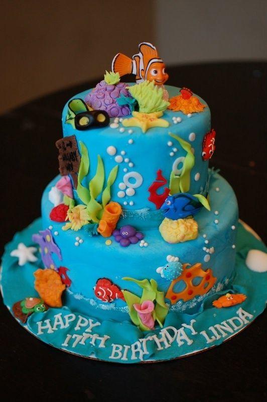 torta di compleanno per bambini mare