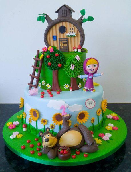 torta per bambini a tema masha e orso