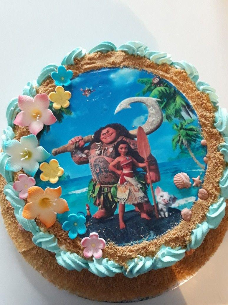 torta di compleanno a tema oceania