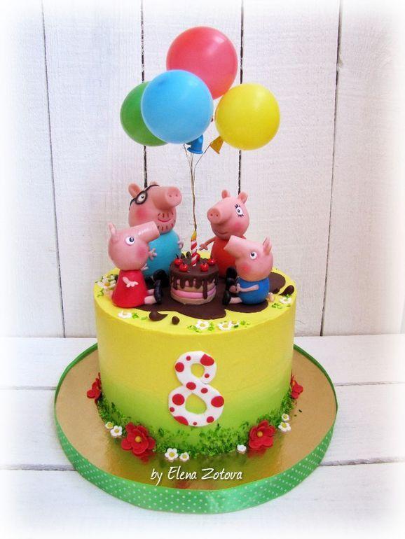 torta di compleanno a tema peppa pig